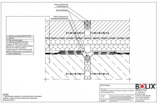 7.7.2 Uszczelnienie dylatacji konstrukcyjnej w posadzce - obciążenie wodą wywierającą parcie