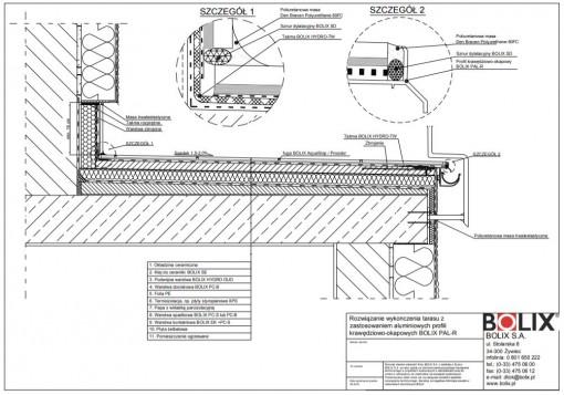 Rozwiązanie wykończenia tarasu z zastosowaniem aluminiowych profili krawędziowo-okapowych BOLIX PAL-R