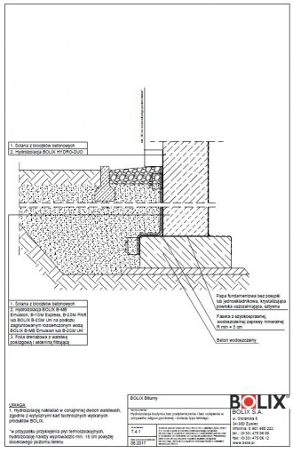 7.4.1 Hydroizolacja budynku bez podpiwniczenia i bez ocieplenia - izolacja typu lekkiego