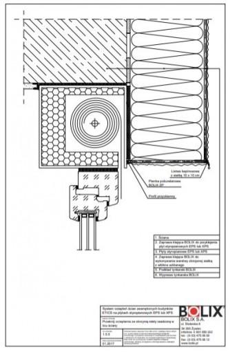 1.5.5 Przekrój ocieplenia ze skrzynią rolety osadzoną w licu ściany