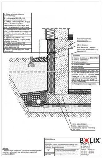 7.1.3 Hydroizolacja budynku podpiwniczonego z ociepleniem XPS - izolacja typu ciężkiego