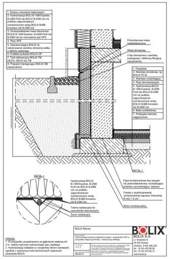 7.1.1 Hydroizolacja budynku podpiwniczonego z ociepleniem XPS - izolacja typu lekkiego