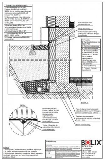 7.1.2 Hydroizolacja budynku podpiwniczonego z ociepleniem XPS - izolacja typu średniego