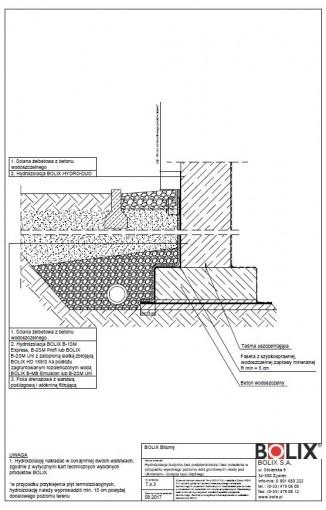 7.4.3 Hydroizolacja budynku bez podpiwniczenia i bez ocieplenia - izolacja typu ciężkiego