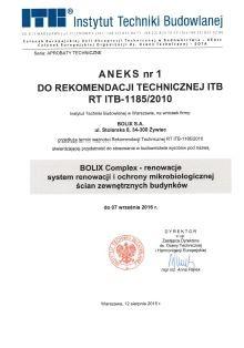 ANEKS nr 1 RT ITB-1185-2010