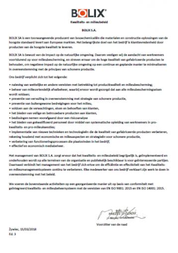 Polityka jakościowo-środowiskowa nl