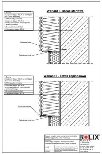 2.8.1 Dolna część ocieplenia - rozwiązania z listwą startową i listwą kapinosową z taśmą rozprężną