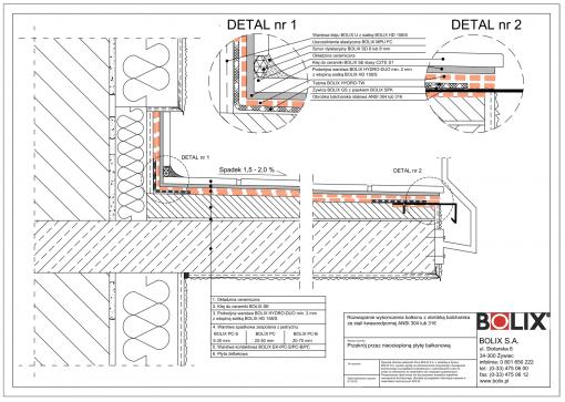 Balkon nieocieplony - obróbka blacharska ANSI304 lub 316