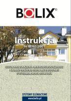 INSTRUKCJA BOLIX Nr IB/02/2001