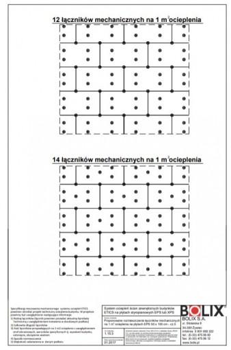 1.15.3 Proponowane rozmieszczenie łączników mechanicznych na 1 m ocieplenia na płytach EPS 50 x 100 cm - cz.3.