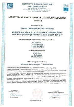 CERTYFIKAT ZKP ITB-0564/Z