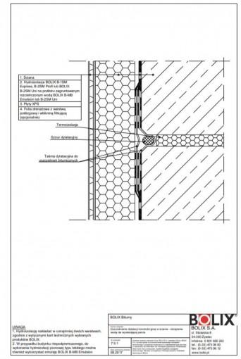 7.5.1 Uszczelnienie dylatacji konstrukcyjnej w ścianie - obciążenie wodą nie wywierającą parcia