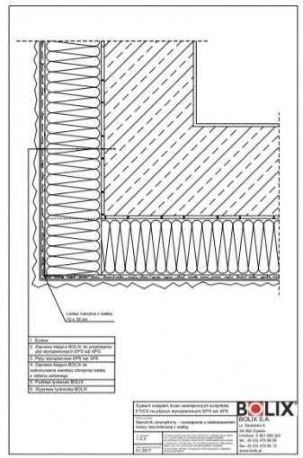 1.2.2 Narożnik zewnętrzny - rozwiązanie z zastosowaniem listwy narożnikowej z siatką