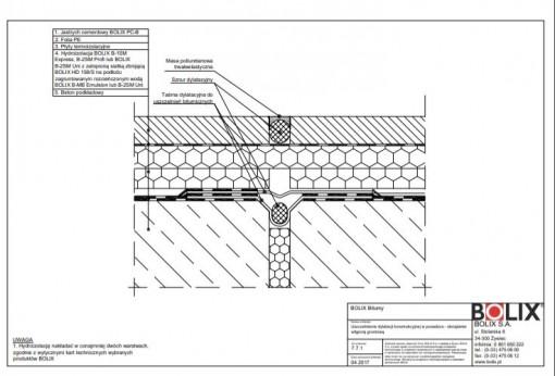 7.7.1 Uszczelnienie dylatacji konstrukcyjnej w posadzce - obciążenie wilgocią gruntową