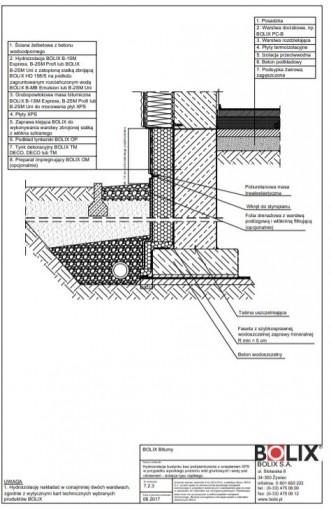 7.2.3 Hydroizolacja budynku bez podpiwniczenia z ociepleniem XPS - izolacja typu ciężkiego