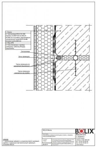 7.5.2 Uszczelnienie dylatacji konstrukcyjnej w ścianie - obciążenie wodą wywierającą parcie