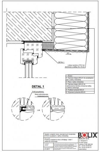 2.5.3 Przekrój ocieplenia okna cofniętego - detal 1 nadproża okiennego