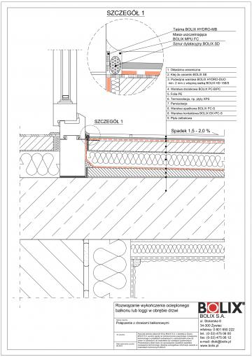 Balkon ocieplony - połączenie z drzwiami