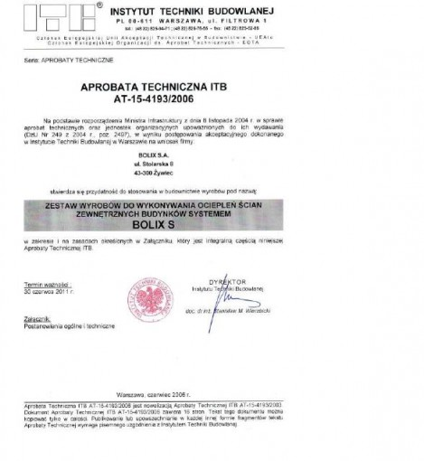 APROBATA TECHNICZNA ITB Nr AT-15-3374/2014