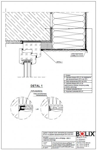 1.5.4 Przekrój ocieplenia okna cofniętego - detal 2 nadproża okiennego [nieaktualny]