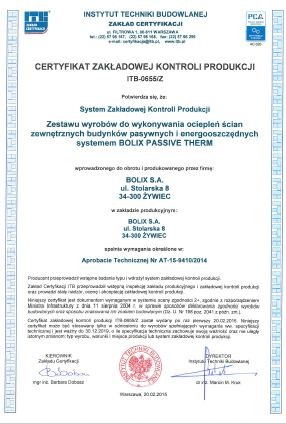 CERTYFIKAT ZKP ITB-0655/Z