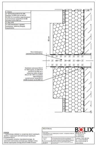 7.6.1 Uszczelnienie rury instalacyjnej w ścianie - obciążenie wodą niewywierającą parcia
