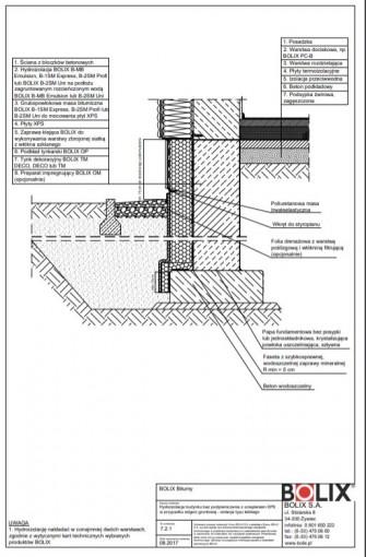 7.2.1 Hydroizolacja budynku bez podpiwniczenia z ociepleniem XPS - izolacja typu lekkiego