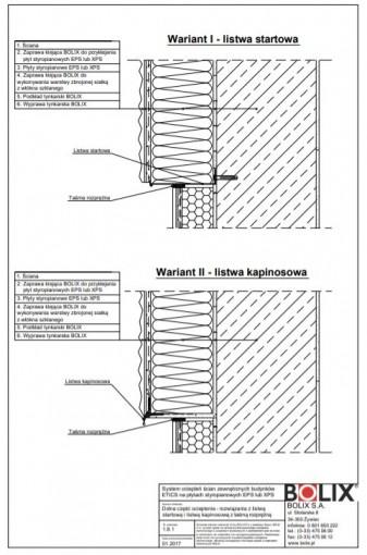 1.8.1 Dolna część ocieplenia - rozwiązania z listwą startową i listwą kapinosową z taśmą rozprężną