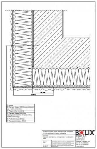 2.2.1 Narożnik zewnętrzny - rozwiązanie z wywinięciem siatki