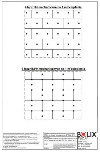 1.15.1 Proponowane rozmieszczenie łączników mechanicznych na 1 m ocieplenia na płytach EPS 50 x 100 cm - cz.1.