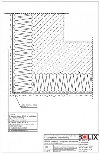 2.2.2 Narożnik zewnętrzny - rozwiązanie z zastosowaniem listwy narożnikowej z siatką