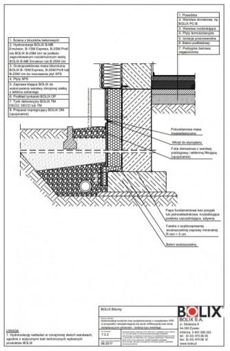 7.2.2 Hydroizolacja budynku bez podpiwniczenia z ociepleniem XPS - izolacja typu średniego