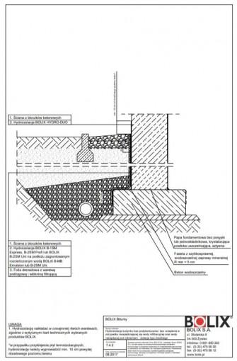 7.4.2 Hydroizolacja budynku bez podpiwniczenia i bez ocieplenia - izolacja typu średniego