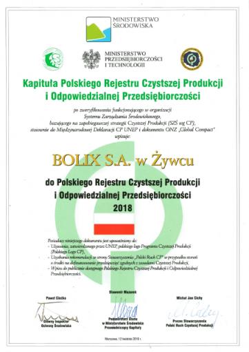 Wpis do Rejestru CPiOP 2018
